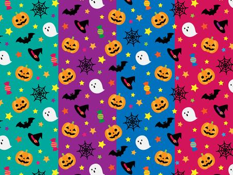 Halloween seamless pattern_4 colors