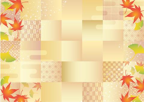 秋に使えるかもしれない背景素材 和風紅葉