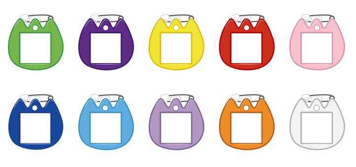 유치원 이름표 배지 (배지)
