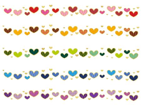 Japanese style line heart