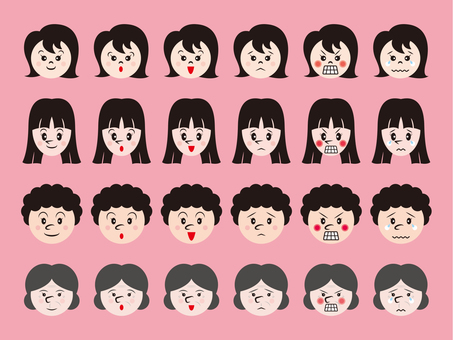 Various facial expressions _ by women's age _ 4 c