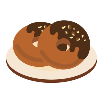 Donut on the plate