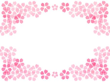만발한 벚꽃 프레임
