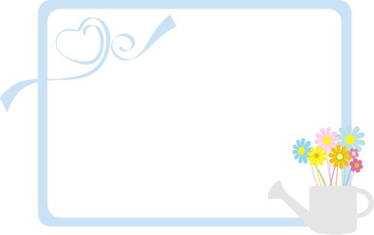 Flower frame light blue