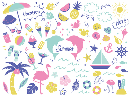 여름 이른바라며 장식 세트 02
