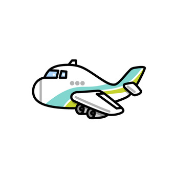 Illustration of a colorful airplane (passenger plane)
