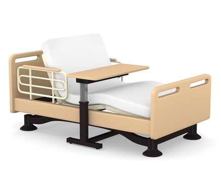 Care bed and table reclining 3D