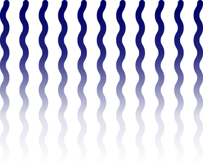 Blue wavy line Smooth straight line