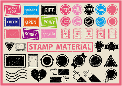 Set of blurred stamp