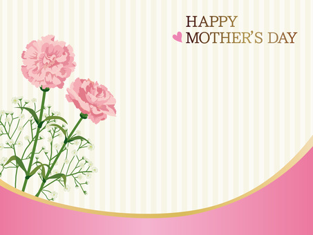 Mother's Day Carnation card B 03