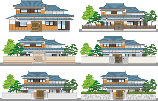 There are 3 edges of Japanese houses with mochi