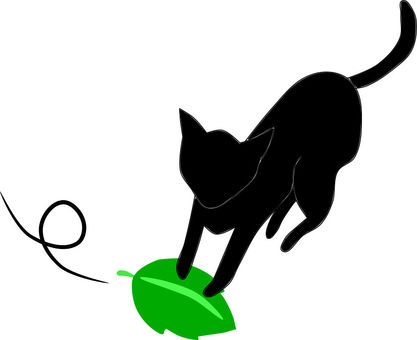 Nyanko-san, I caught a leaf!