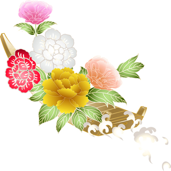 Botanical flower ship