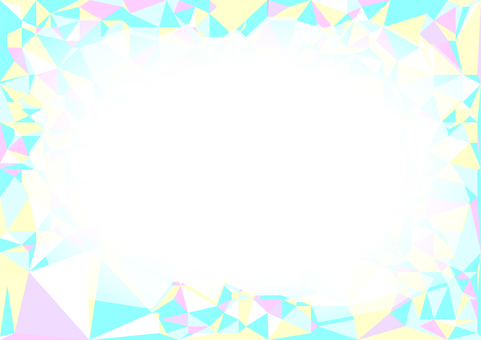 Pastel tone polygon frame background material