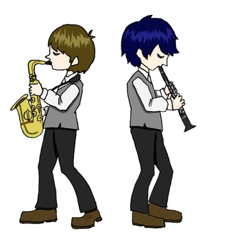 Tenor saxophone and clarinet