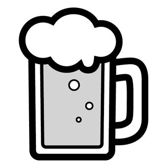Sake icon Beer mug drink