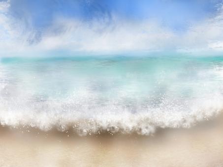 在夏天結束的海洋