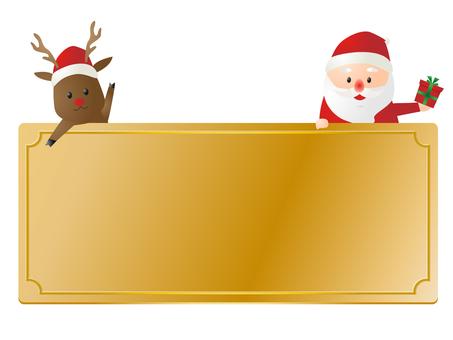 산타 클로스와 순록 프레임