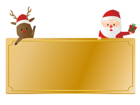 Frame of Santa Claus and Reindeer