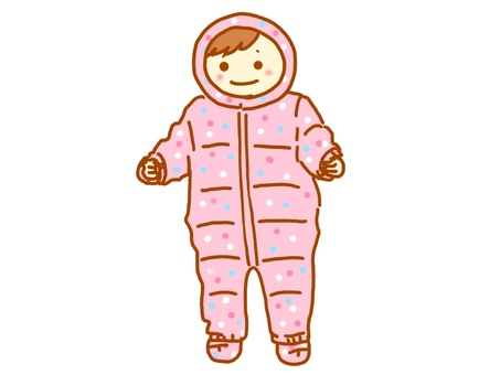 Baby wearing a jumpsuit