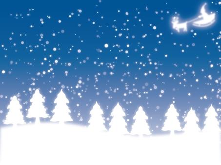 Night snow 12