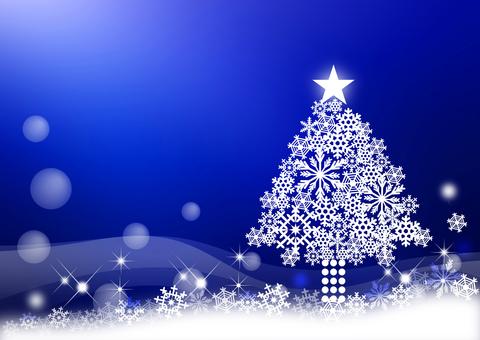 Christmas _ Blue background