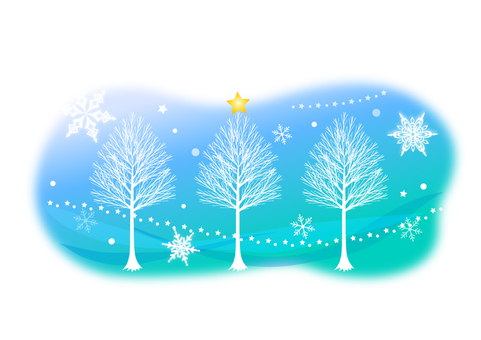 Illustration of winter fairy tale