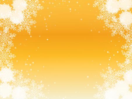 Snow, flower image, orange