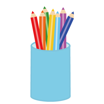 Stationery (colored pencil and pen stand)