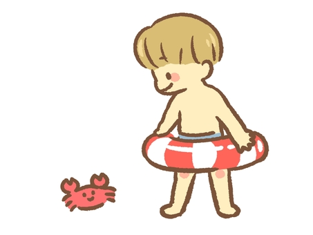 Crab and boy
