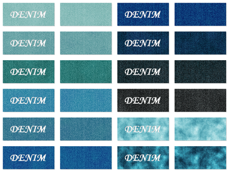 Denim fabric color sample 12 colors