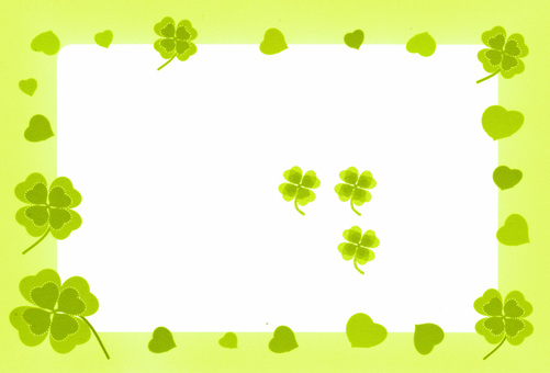 Four leaf clover frame