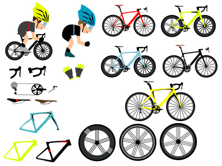 Road bike material set