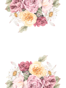 Flower frame 208 - Tea Rose and Dizzy flower frame