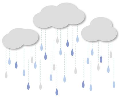 Illustration 1 of rain and clouds