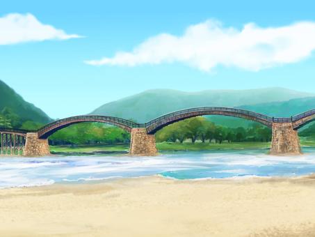 和風背景 橋 昼