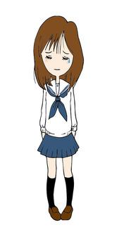 A sad girls student
