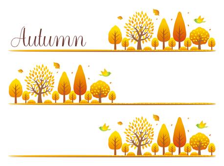 秋の木々のワンポイント