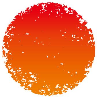 Stamp circle _ red gradation _ cs