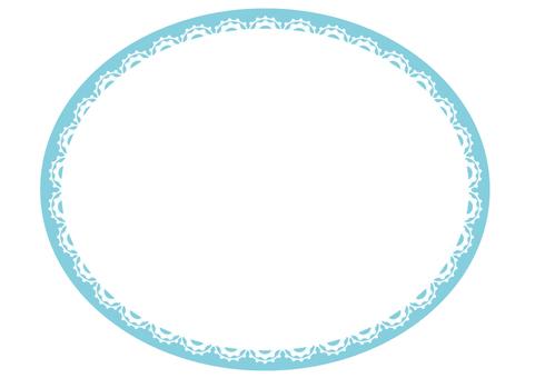 Lace ellipse (light blue)