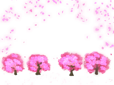 Peach tree and petal
