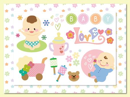 赤ちゃん関連の素材セット
