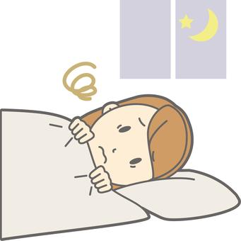 女大學生失眠 - 全身