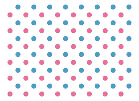 Dot polka dot blue pink