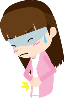 Abdominal pain (female)