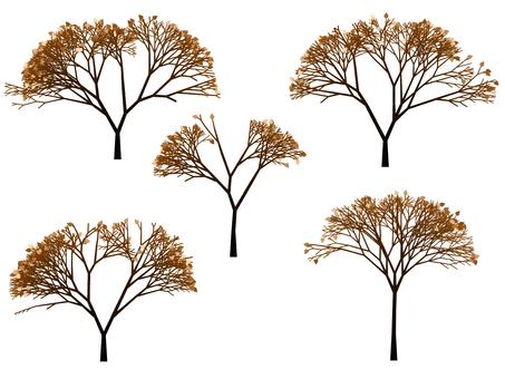 나무 일러스트 겨울 73