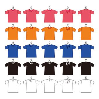 Shirt (with hangar -) stuffed set