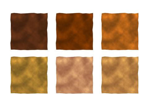 水彩四角フレーム 茶色