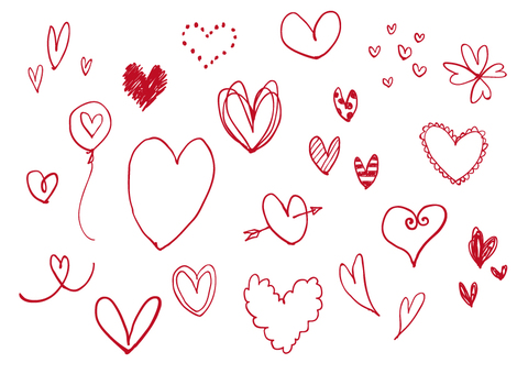 Heart / hand-drawn style (red)