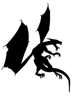 Dragon silhouette